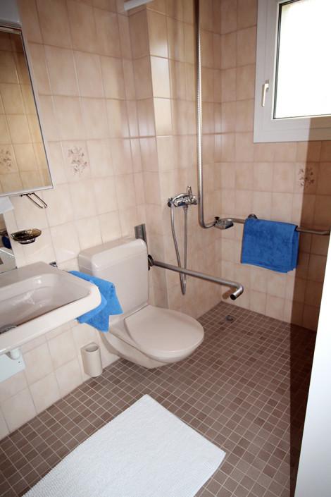 Toilette inklusive Nasszelle