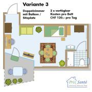 Pflegeheim Prix Santé, Grundrisse und Preise pro Bett und Tag in den verfügbaren Pflegewohnungen in Uster.